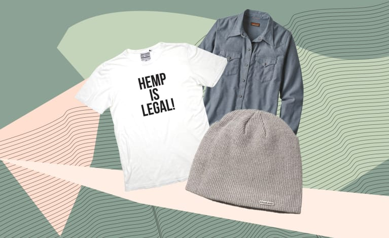 collage of clothing and accessories made from hemp