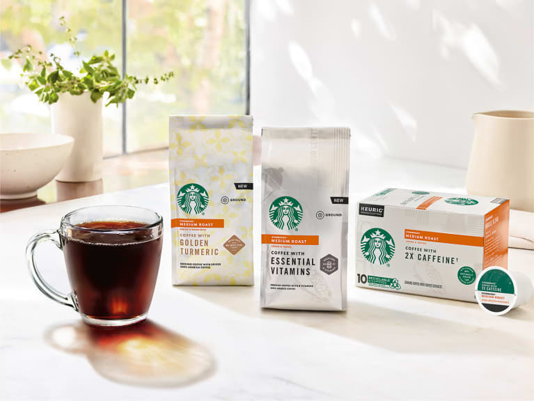 Starbucks Ground Coffee Infused with Vitamins