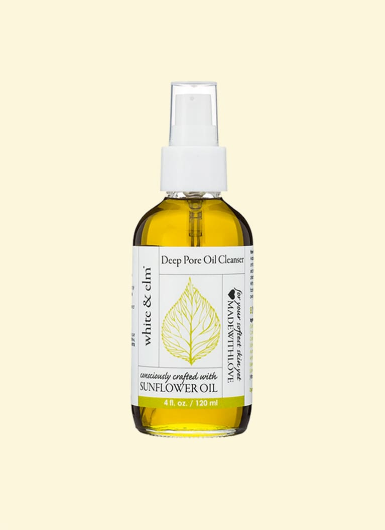 White & elm deep pore cleansing oil