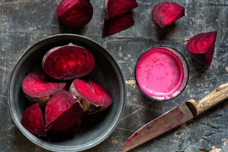 A Mineral-Rich Beet + Basil Juice You Can Make Without A Juicer