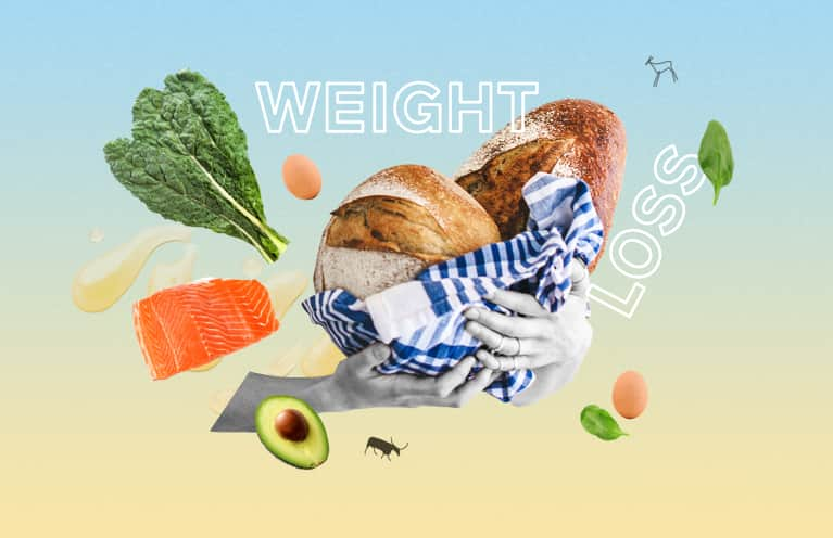 Collage about the best diets for weight loss