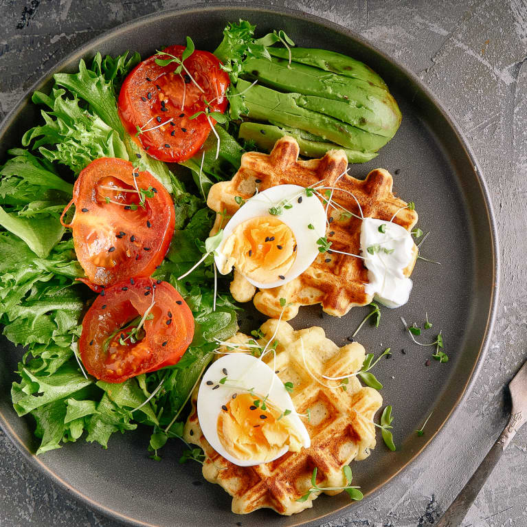 Tomato and Chives Waffle