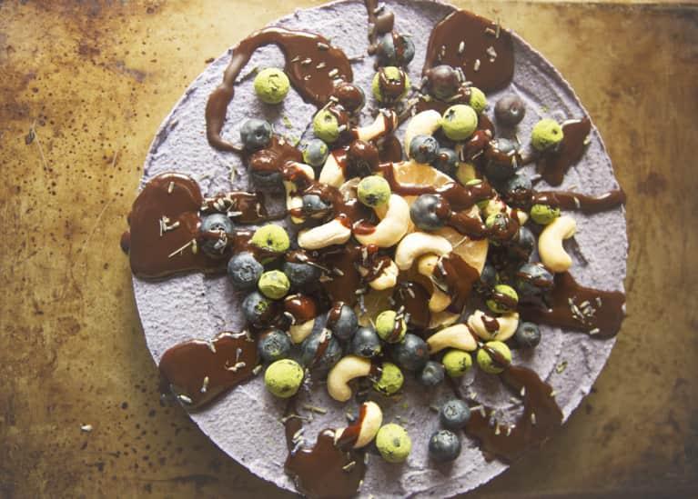 Do Dessert Right: Raw Blueberry Lavender Cheesecake