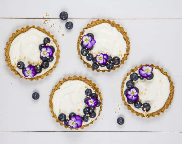 Dessert For Breakfast: Blueberry, Yogurt + Granola Tarts