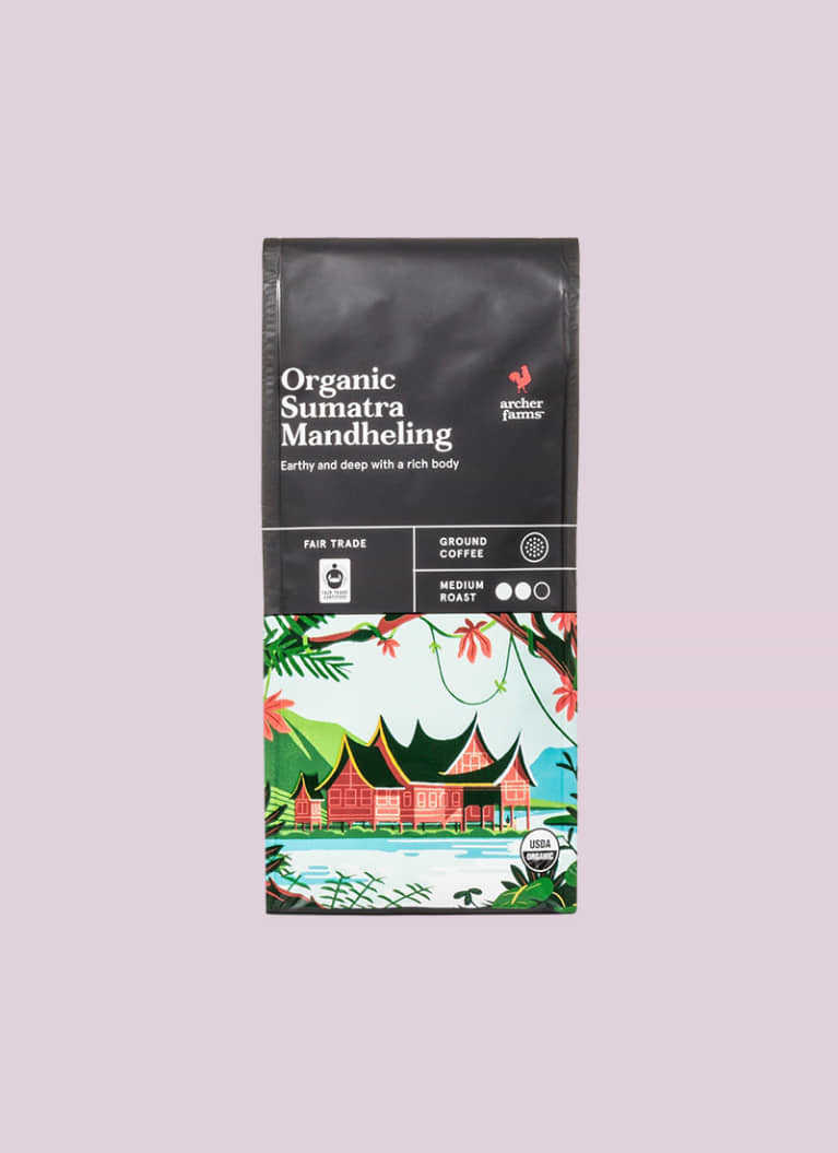 Organic Sumatra Mandheling Medium Roast Ground Coffee