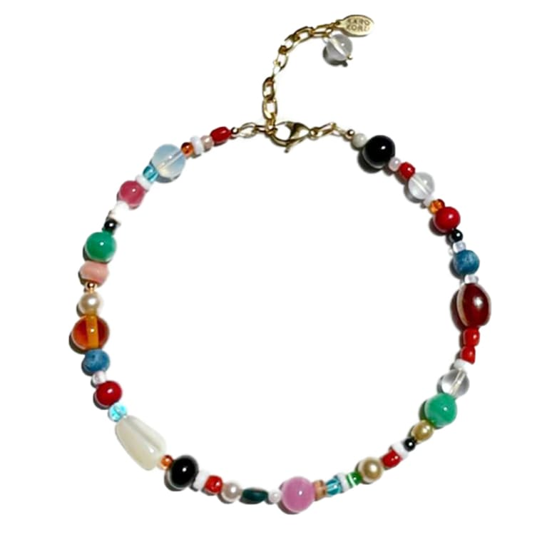 choker necklace made from colorful beads