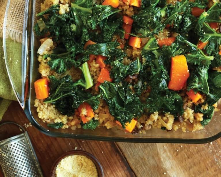 Minimalist Baker's Butternut Squash, Kale + Quinoa Bake