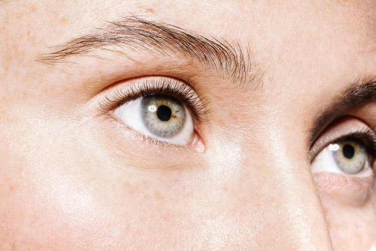 Close Up Shot of Woman's Eyebrows