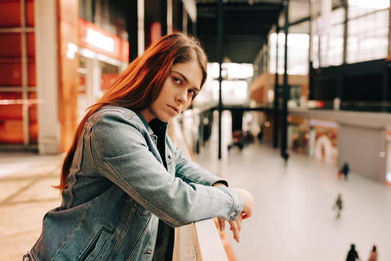 Portrait of a Young Woman Looking Upset and Sad