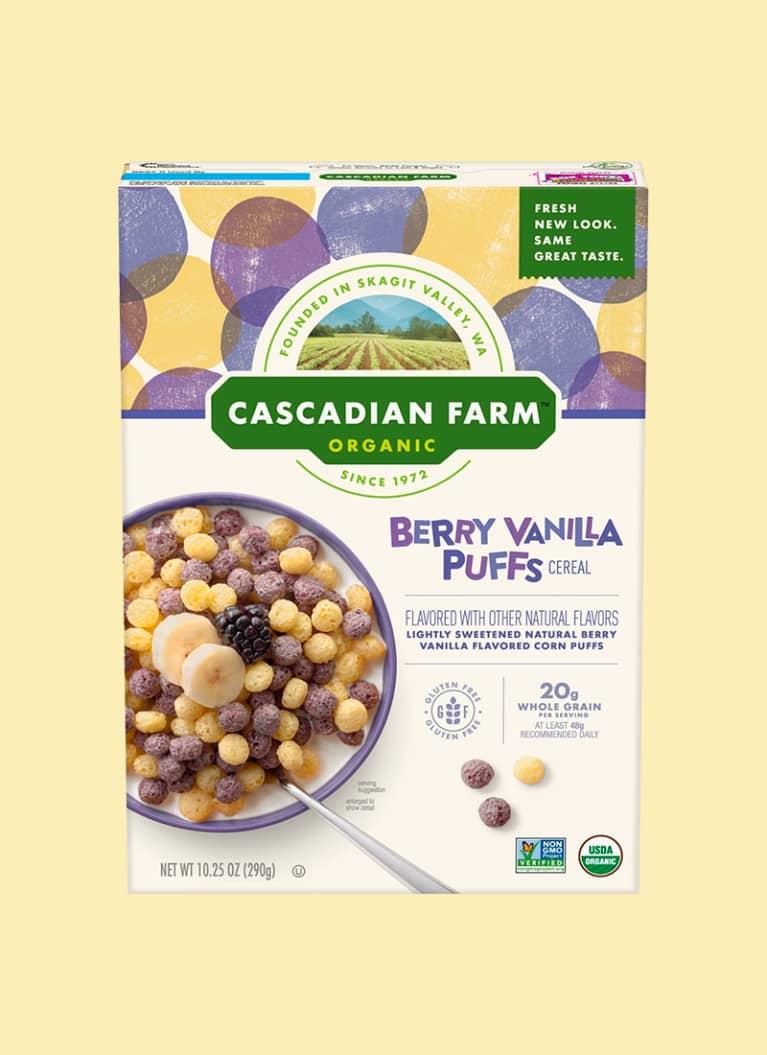 Cascadian Farm Organic Berry Vanilla Puffs