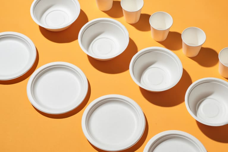Eco-Friendly Biodegradable Paper Dishes And Glass Collection
