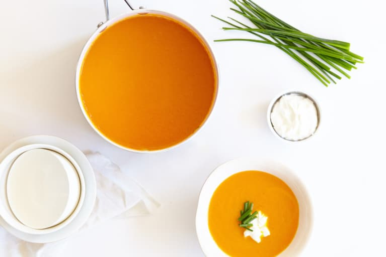 Carrot, Turmeric + Ginger Soup