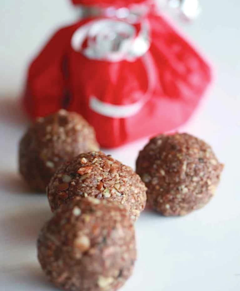 Chocolate Almond Superfood Snack Balls (Raw, Gluten-Free)