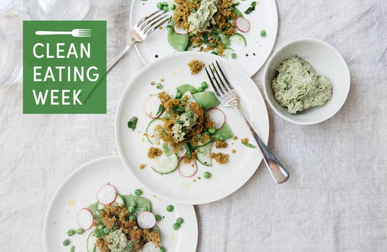 Spring Pea + Radish Salad With Minted Green Tahini
