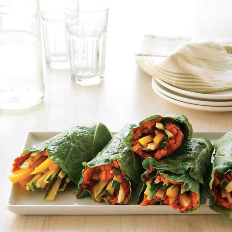 Eat Clean With These Tomato Hummus Collard Wraps