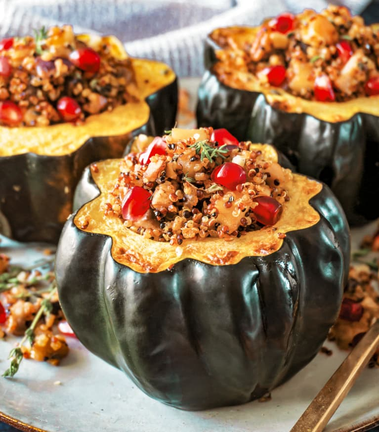 This Stuffed Acorn Squash Might Be The Easiest Vegan Holiday Dish Ever