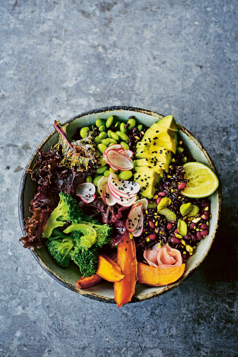 This Black Rice Buddha Bowl Will Detox Your Gut & Make Your Skin Glow