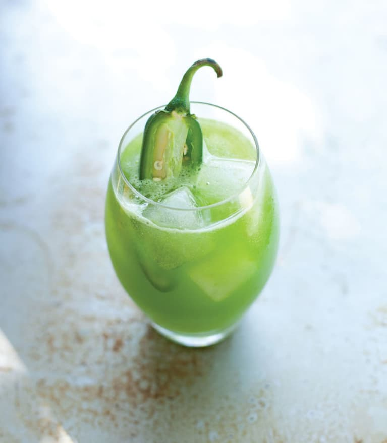 Cucumber-Kale Juice With A Jalapeño Kick