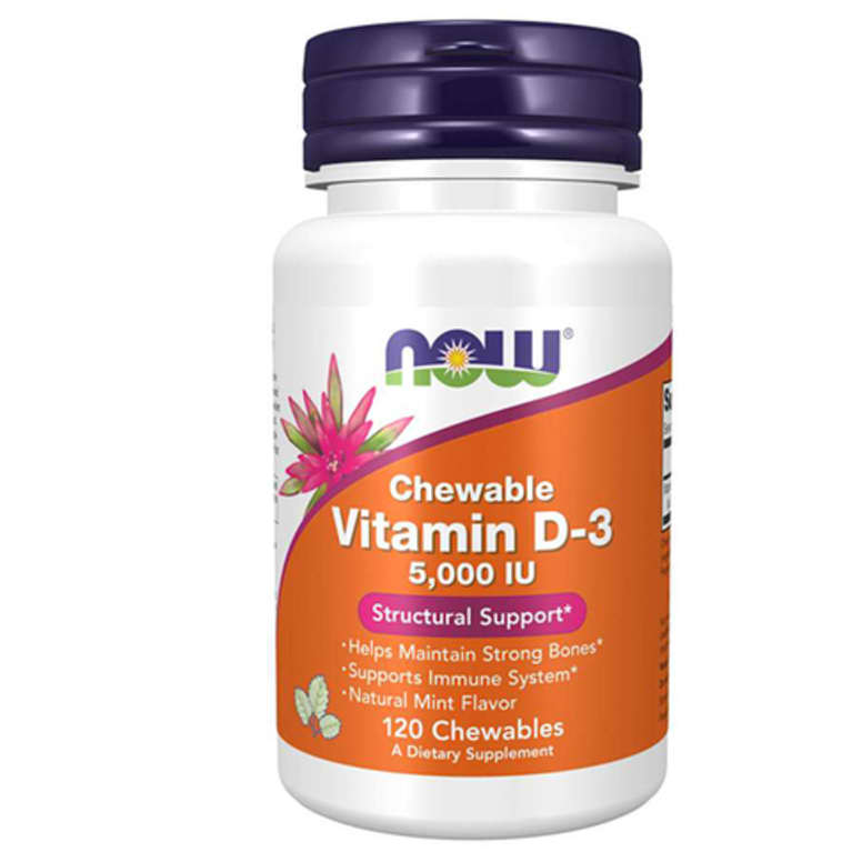 bottle of NOW chewable vitamin D3