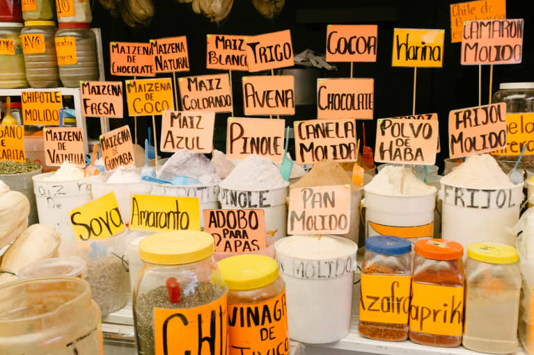 Typical mexican condiments