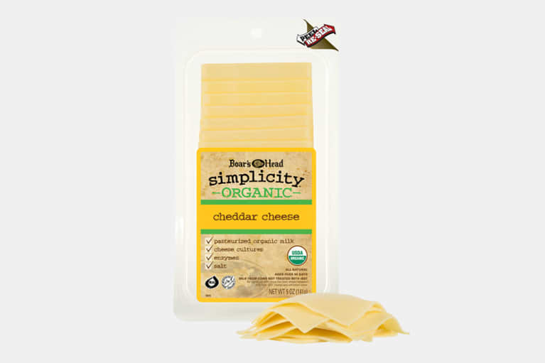 <p>Boar's Head® Simplicity® Organic Cheddar Cheese</p>