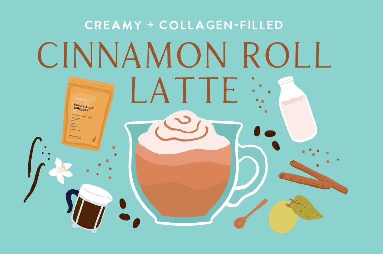 cinnamon roll latte graphic