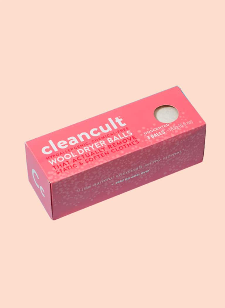 7. Instead of dryer sheets, use cleancult balls.