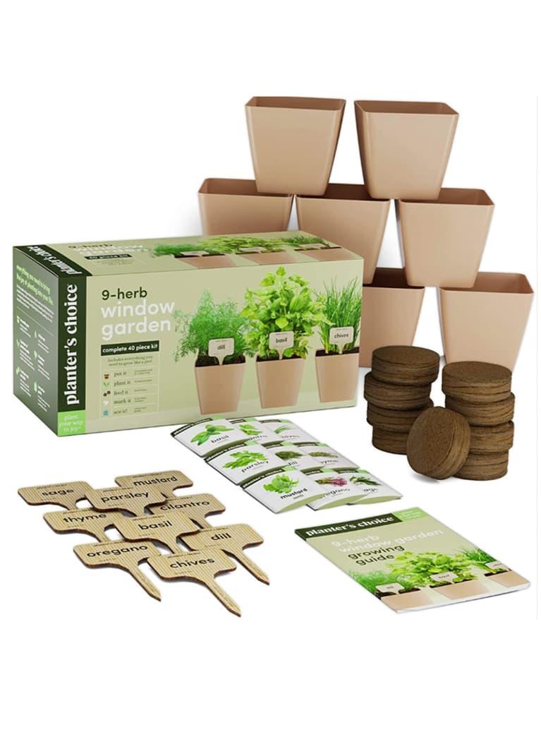 4. Planter's Choice 9-Herb Window Garden