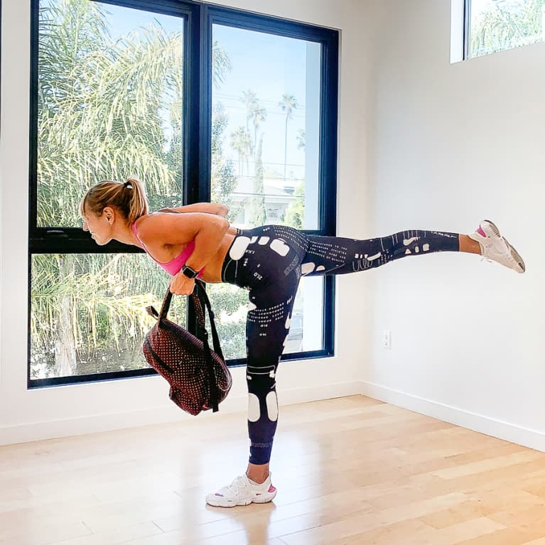 All You Need Is 20 Minutes & A Backpack For This Full-Body Workout