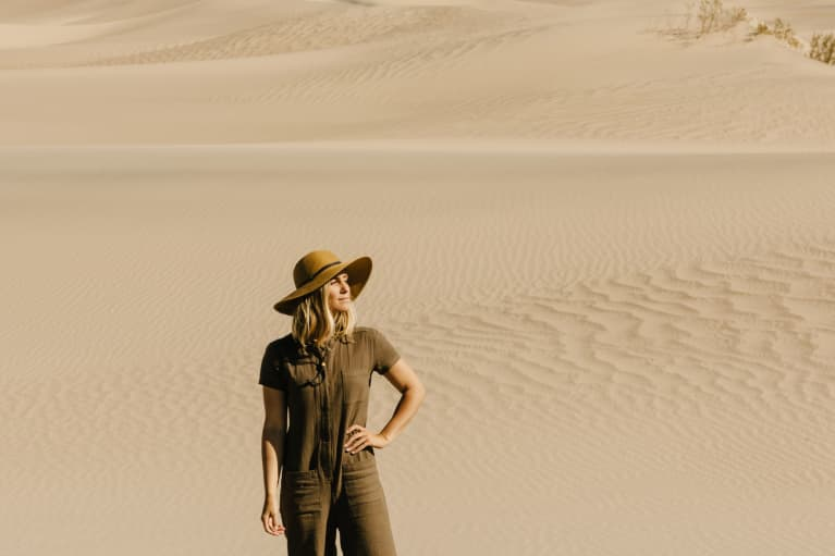 Young woman in the desert