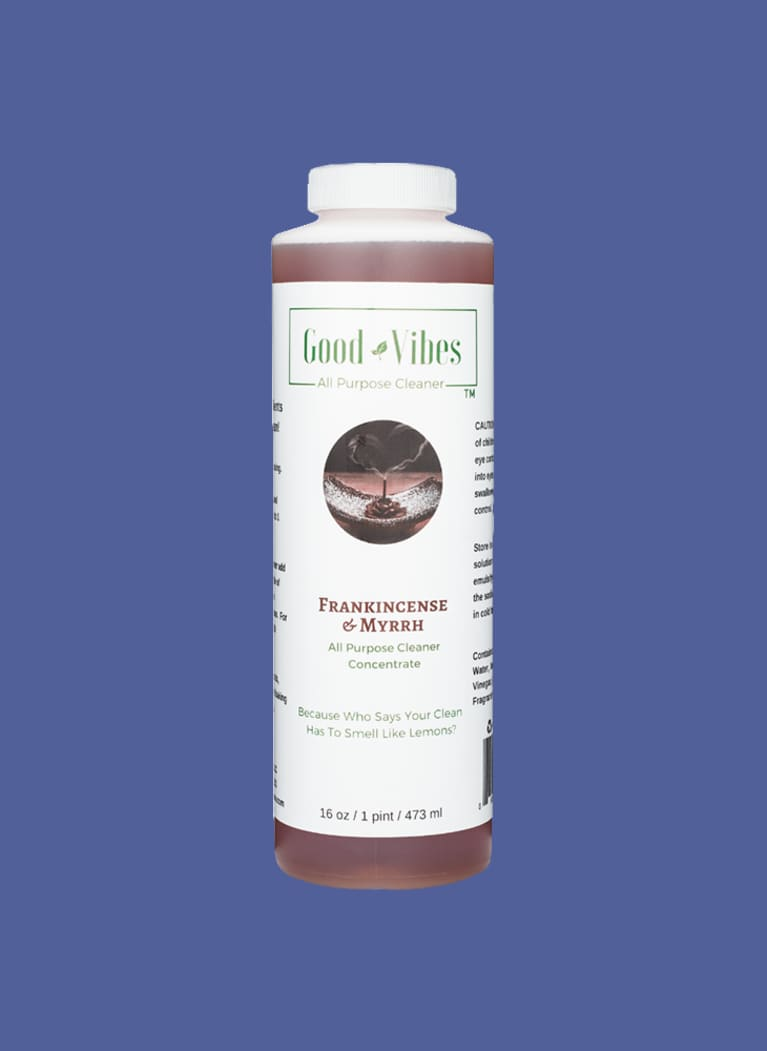 Good Vibes natural cleaner bottle