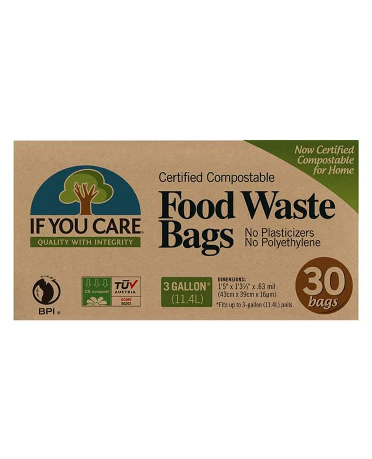 brown cardboard box of compostable trash bag