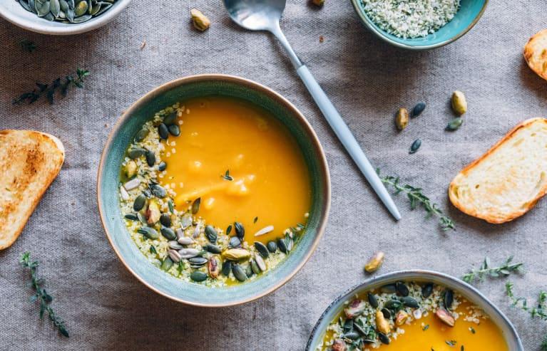 这个胡桃南瓜汤有一个秘密的增强免疫力的成分