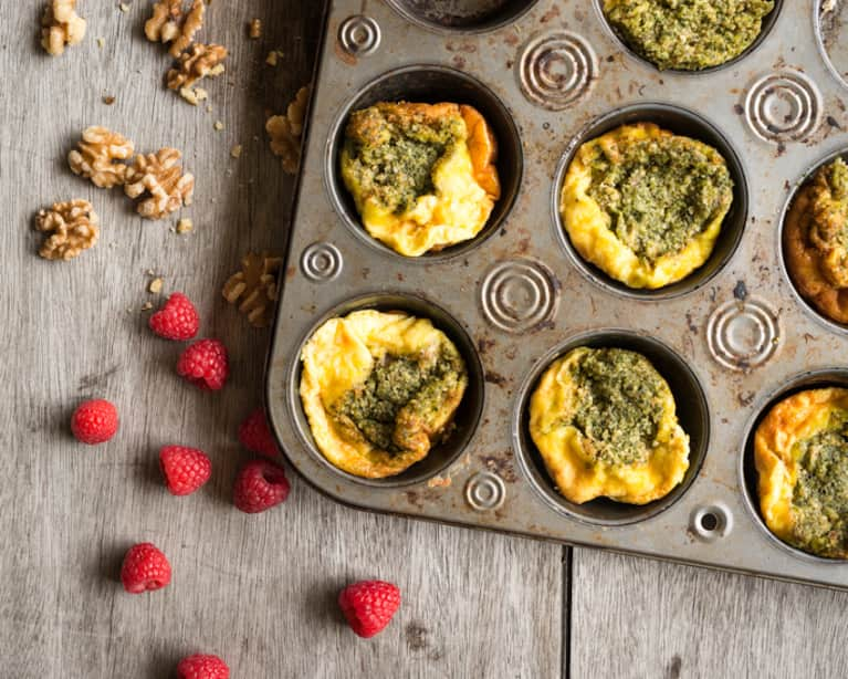 Low-Maintenance Basil Frittata Muffins For Those Mornings You Just Can't Even