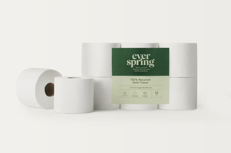 <p>Everspring 100% recycled toilet paper</p>