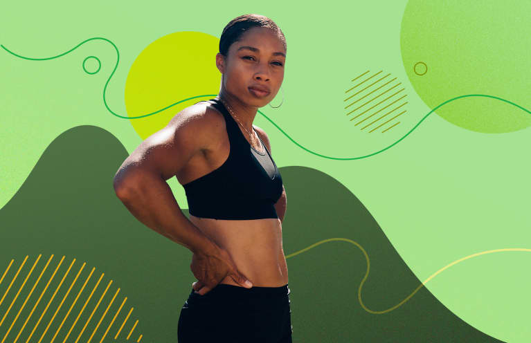 Olympic Sprinter Allyson Felix Shares Her Core Routine + How She Stays Motivated