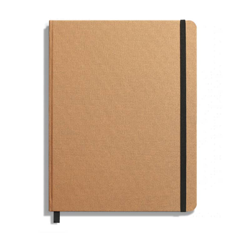 blank journal with brown cover