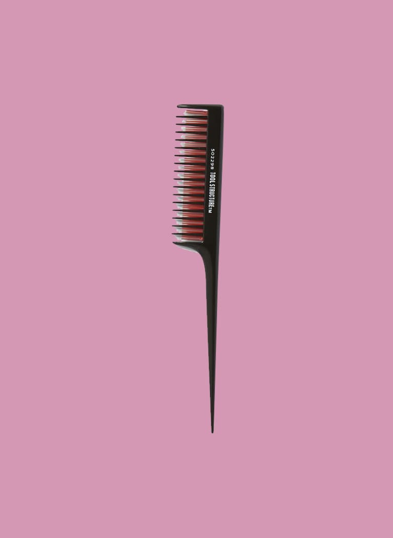 tease layers rattail brush