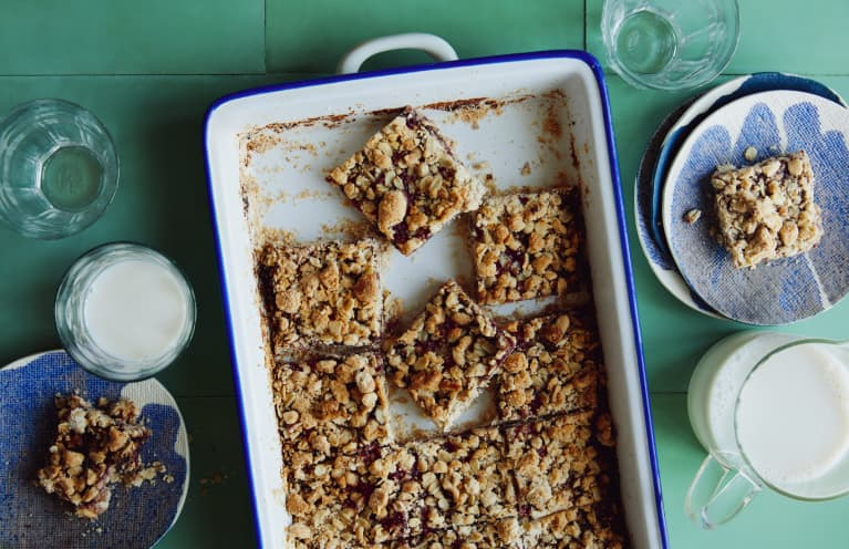 The Nutty Crumble On These Healthy Homemade Jam Bars Is To Die For