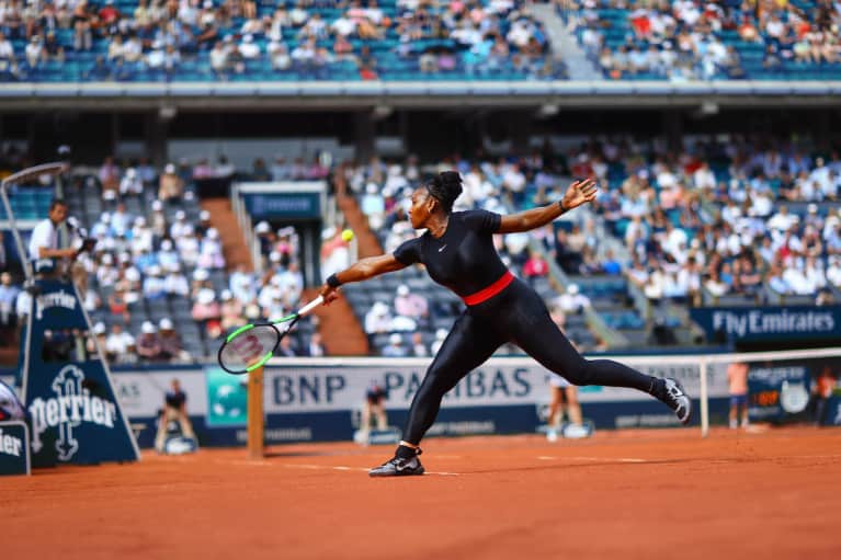 Serena Williams' Statement-Making Outfit Is A Nod To New Moms Everywhere