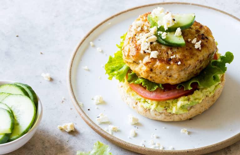 These 5-Ingredient Chicken Burgers Are Mediterranean Diet-Approved