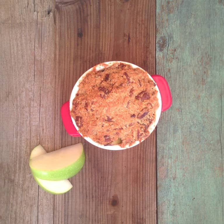 Grain-Free Apple Crumble With Grass-Fed Butter
