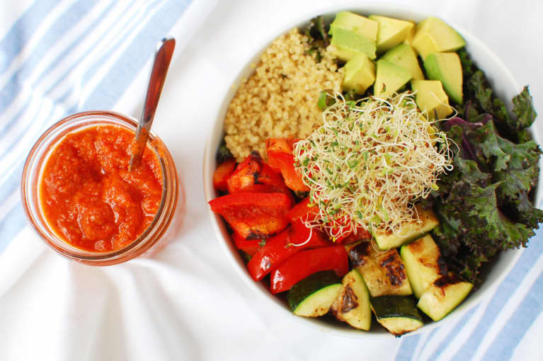 15-Minute Grilled Veggie Bowl (Vegan and Gluten-Free!)
