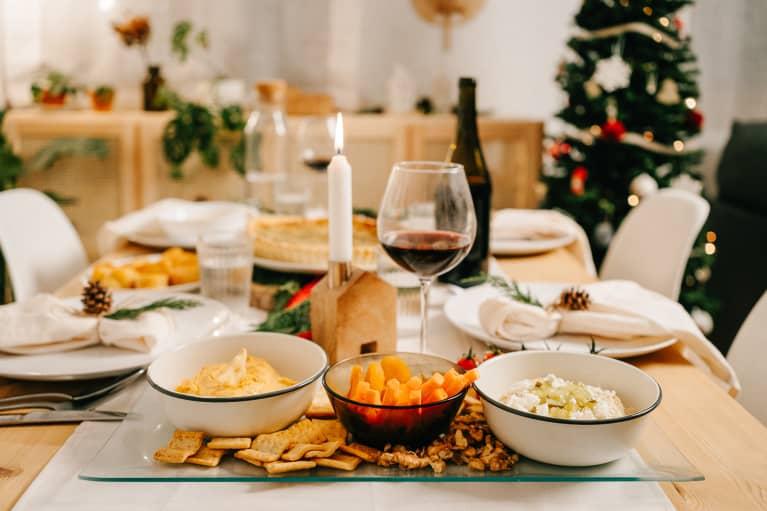 Vegetarian Food During Christmas Dinner