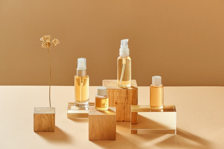 Still Life of Essential Oils and Serums