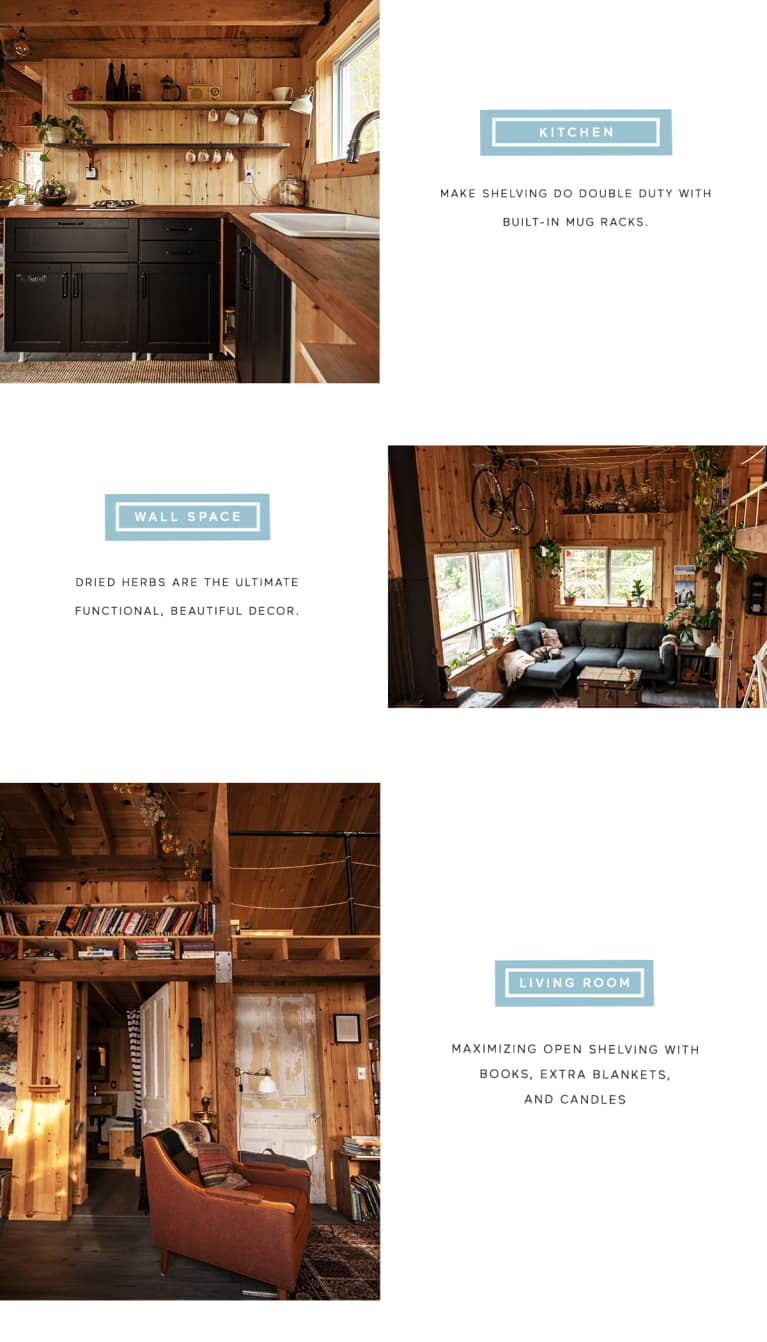 infographic on how to recreate the design of a remote cabin in canada