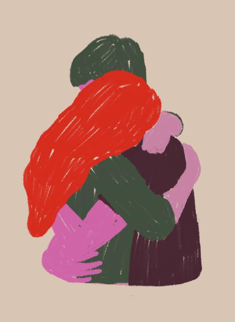 7. Heart-to-heart hug