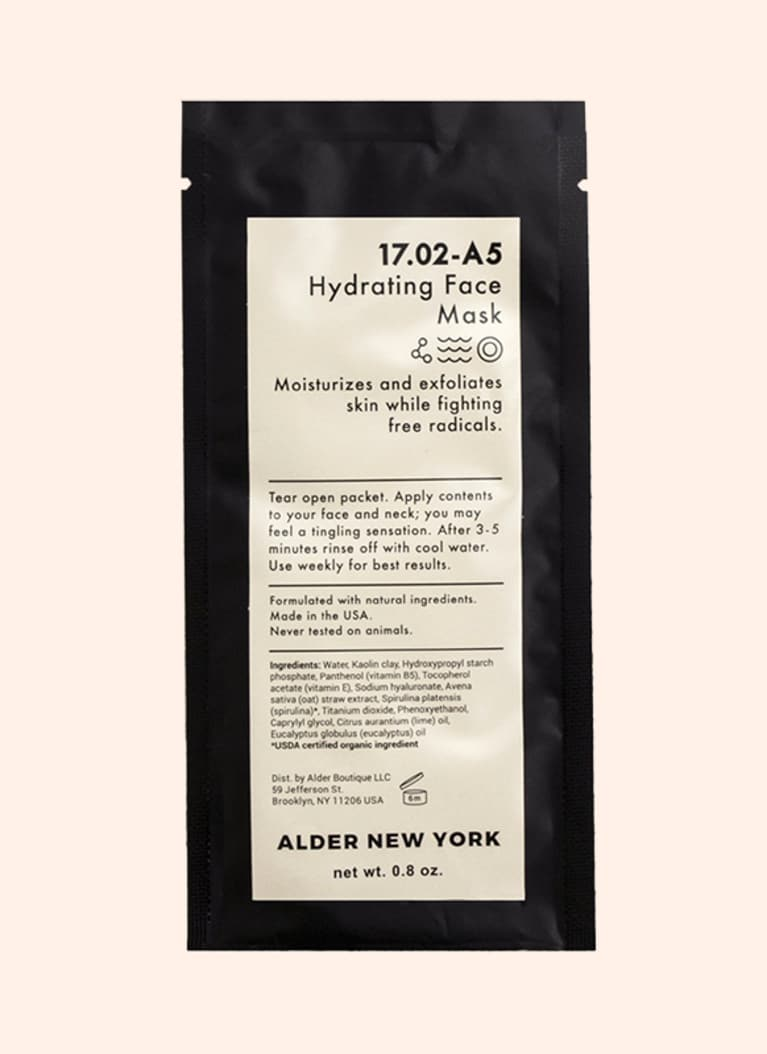 alder new york hydrating sheet mask