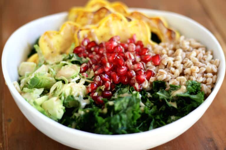 Autumn Harvest Bowl With Maple Tahini Dressing