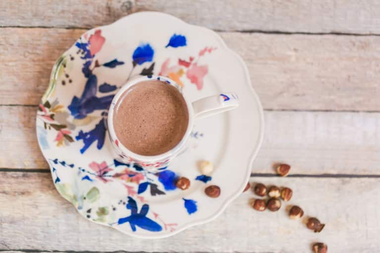 A Sugar-Free Superfood Hazelnut Hot Chocolate